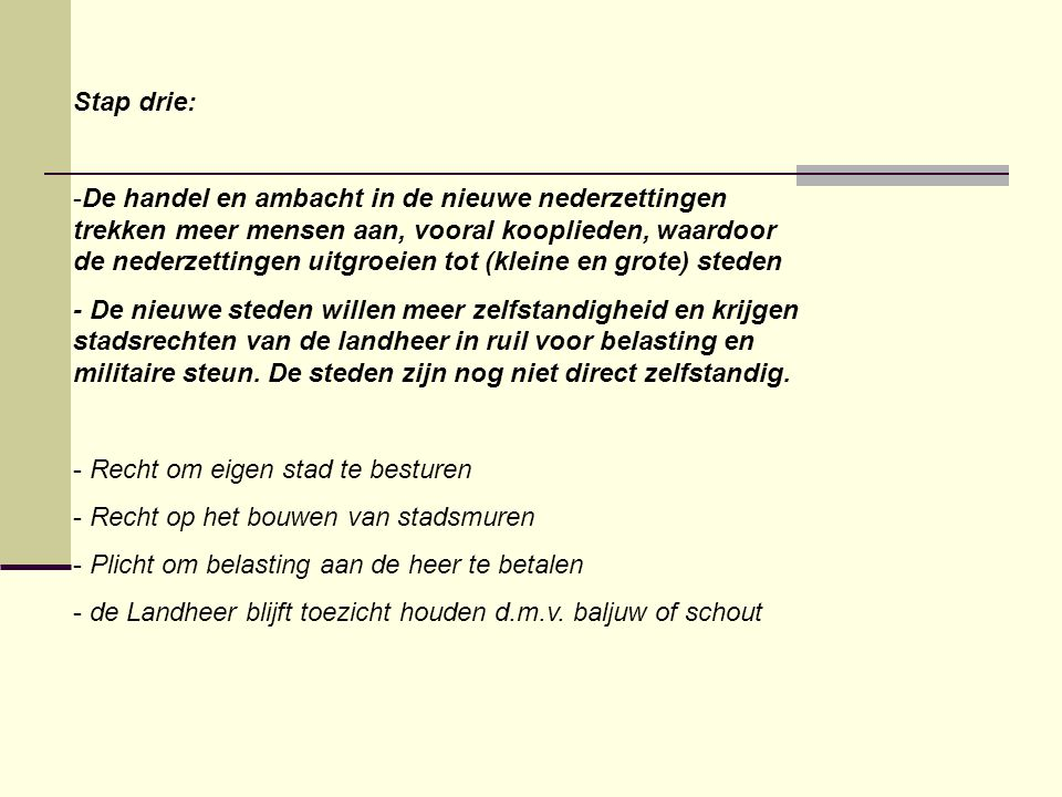 Stap drie: