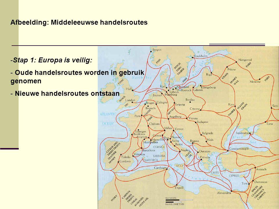 Afbeelding: Middeleeuwse handelsroutes