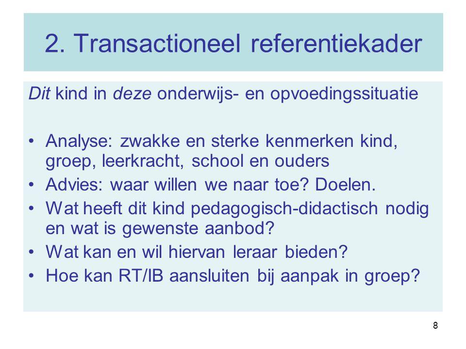 2. Transactioneel referentiekader