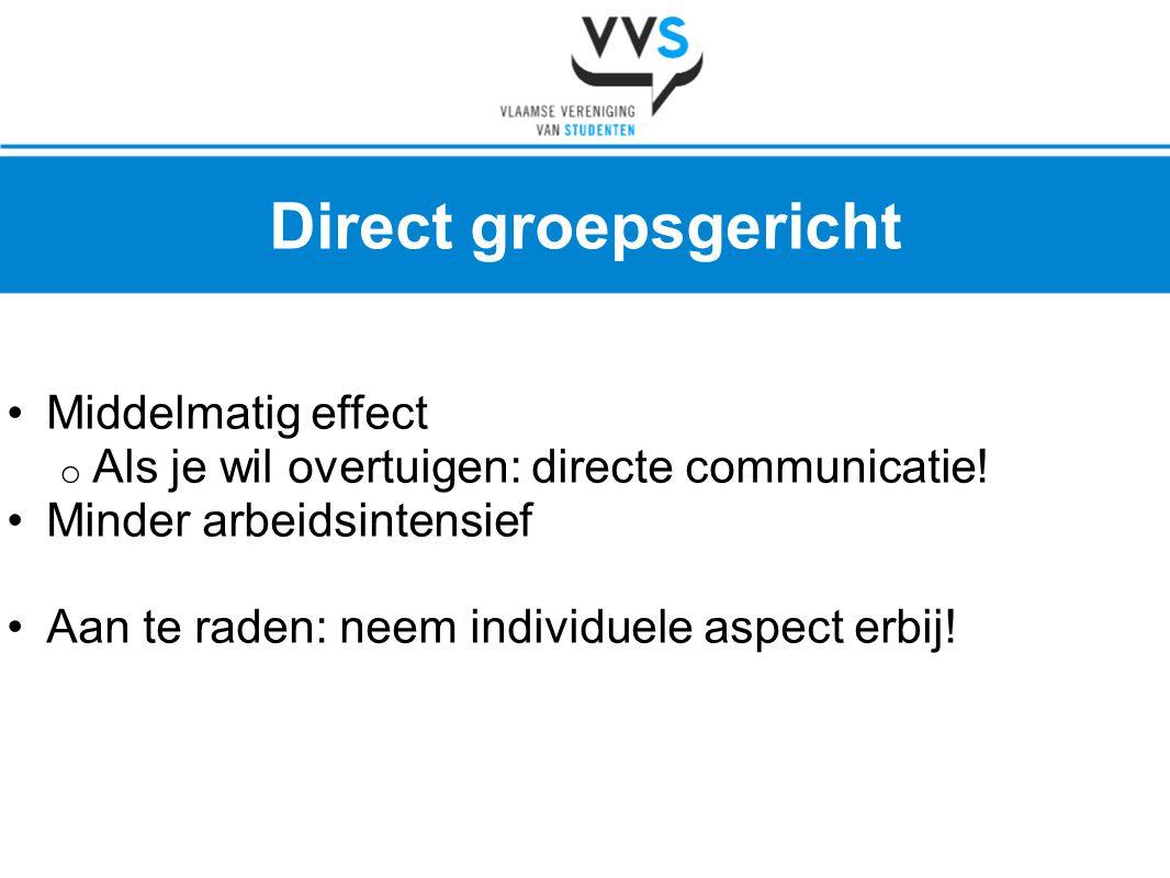 Direct groepsgericht Middelmatig effect