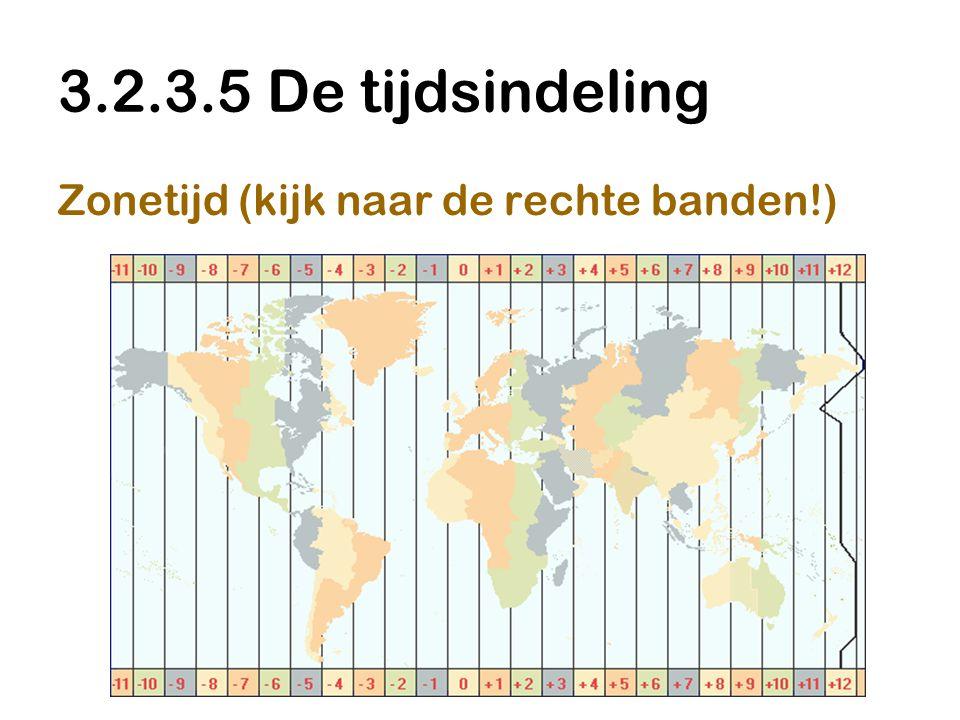 3.2.3.5 De tijdsindeling Zonetijd (kijk naar de rechte banden!)