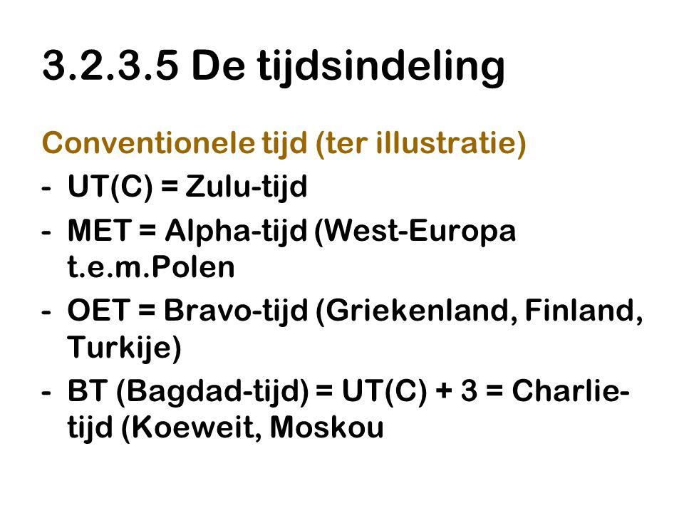 3.2.3.5 De tijdsindeling Conventionele tijd (ter illustratie)