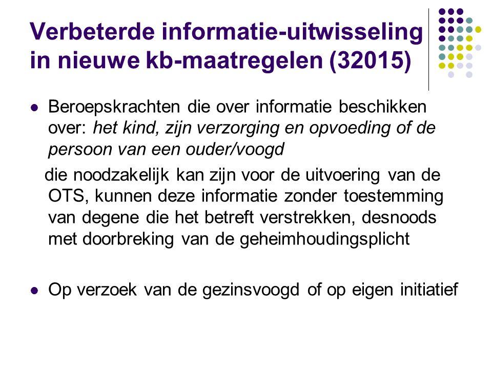 Verbeterde informatie-uitwisseling in nieuwe kb-maatregelen (32015)