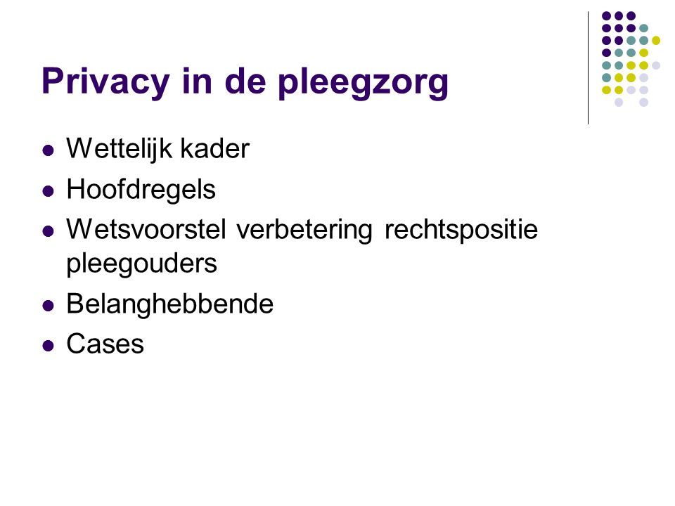 Privacy in de pleegzorg