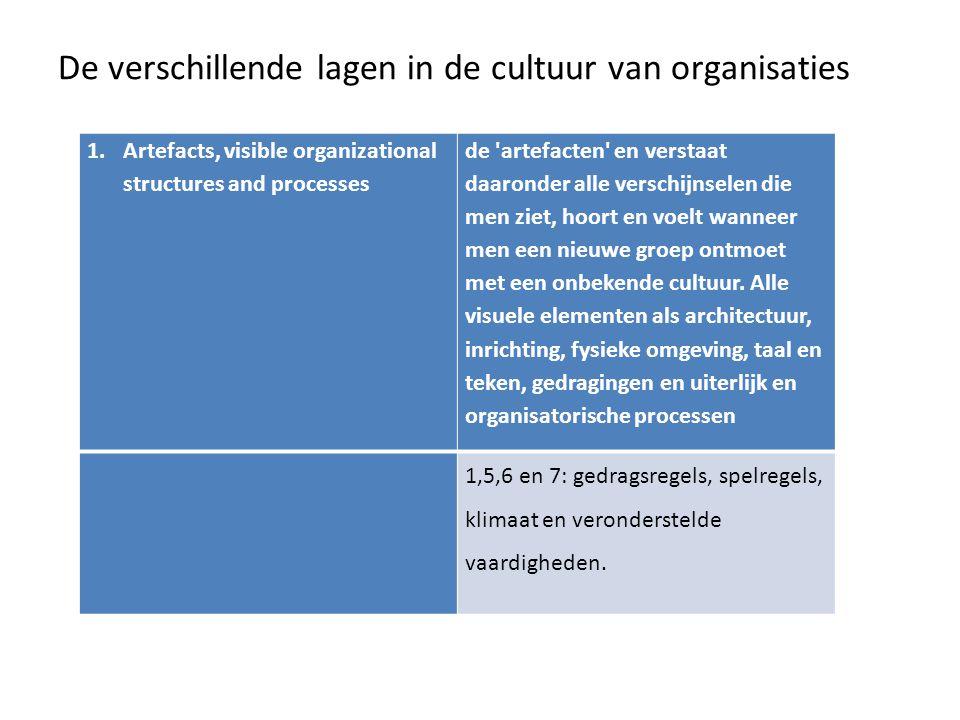 De verschillende lagen in de cultuur van organisaties