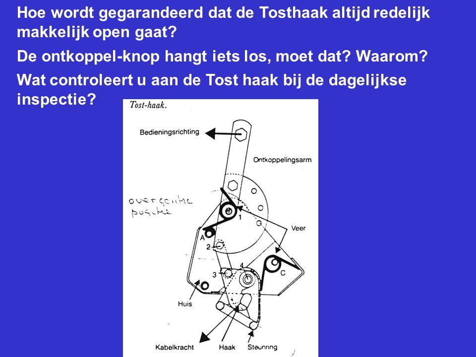 Hoe wordt gegarandeerd dat de Tosthaak altijd redelijk makkelijk open gaat