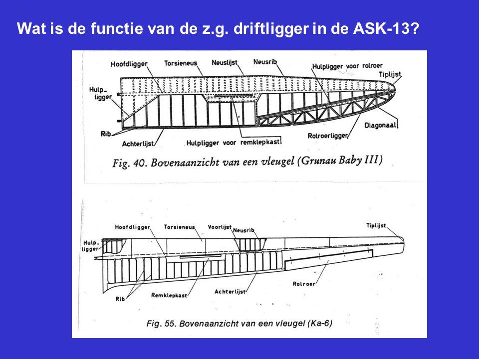 Wat is de functie van de z.g. driftligger in de ASK-13