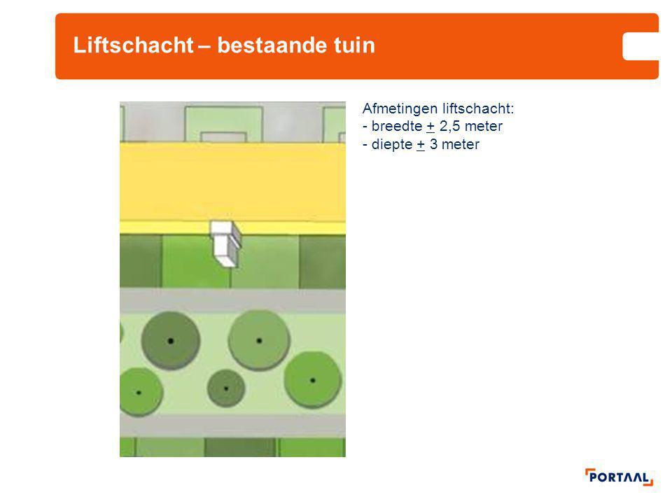Liftschacht – bestaande tuin