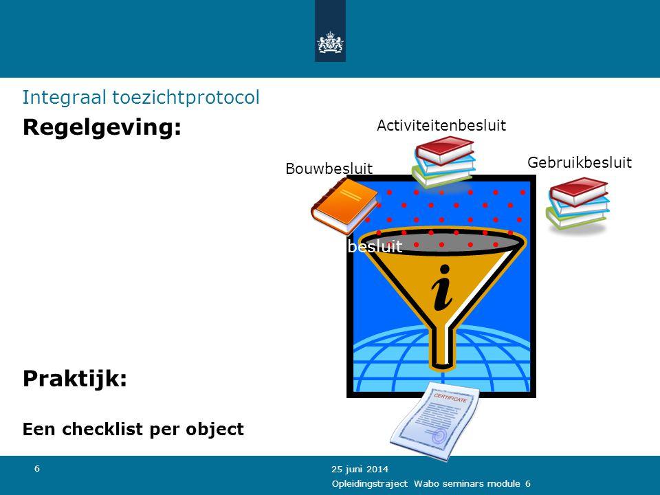 Regelgeving: Praktijk: Integraal toezichtprotocol Activiteitenbesluit