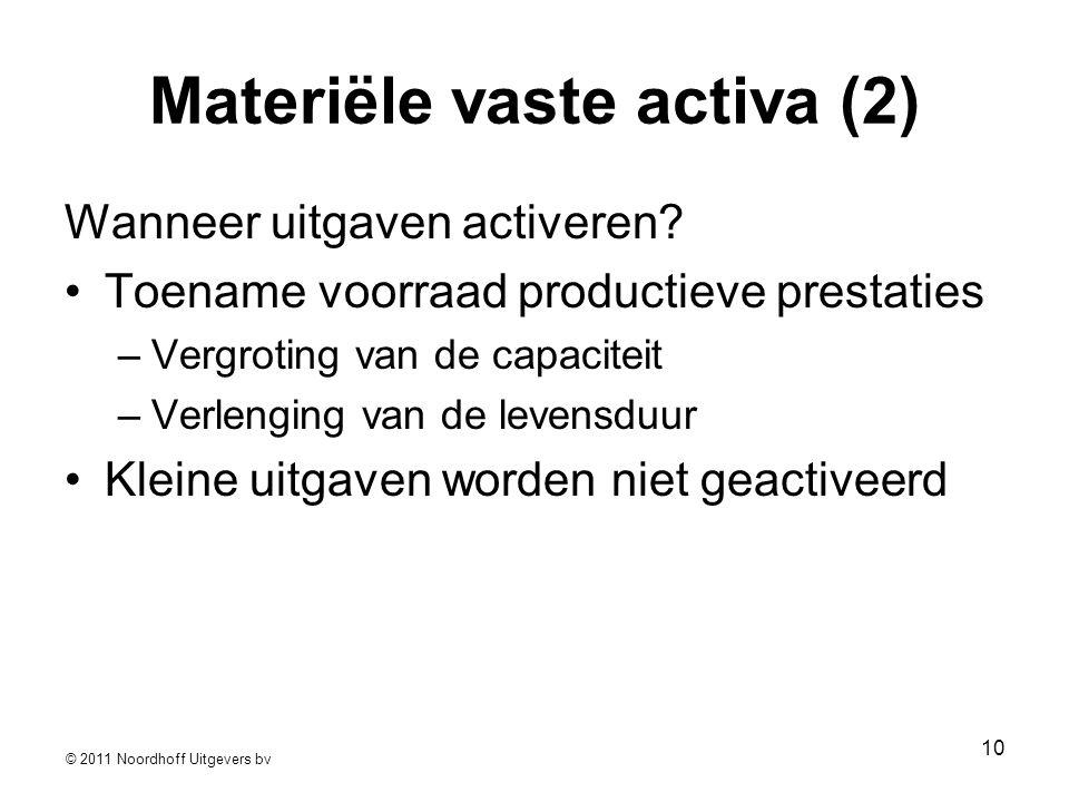 Materiële vaste activa (2)