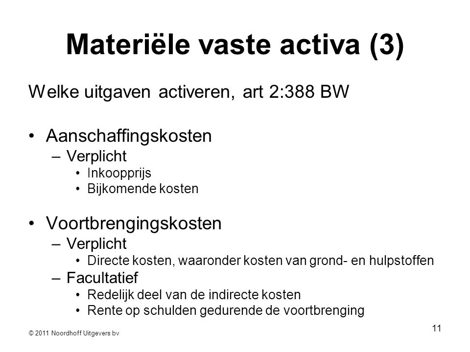 Materiële vaste activa (3)