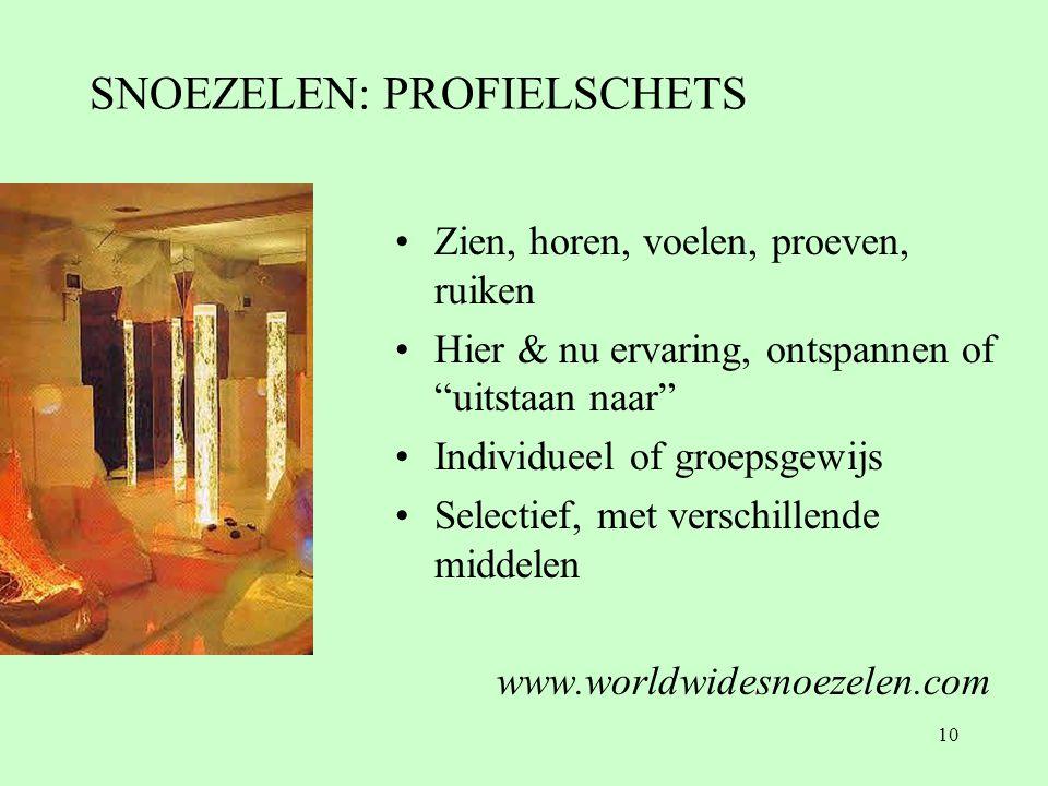 SNOEZELEN: PROFIELSCHETS