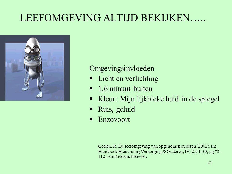 LEEFOMGEVING ALTIJD BEKIJKEN…..