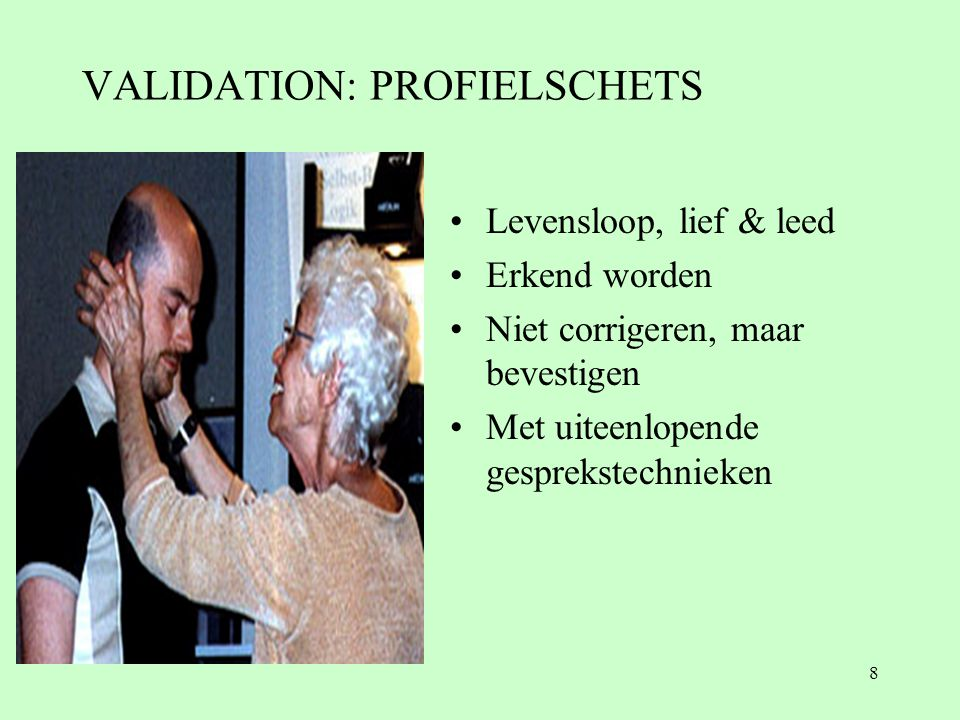 VALIDATION: PROFIELSCHETS