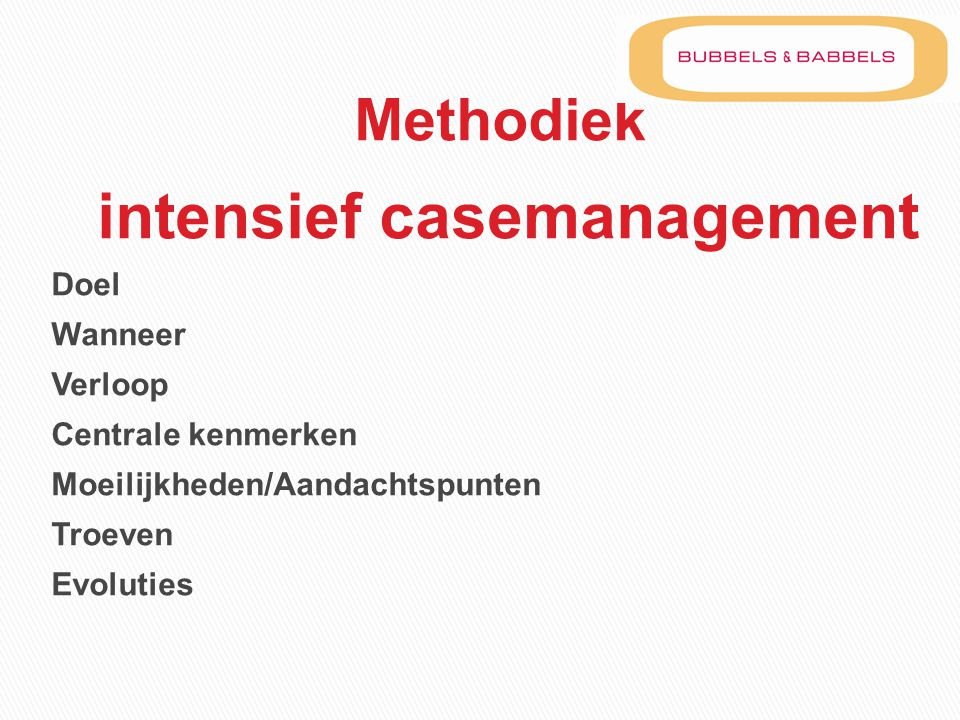 intensief casemanagement