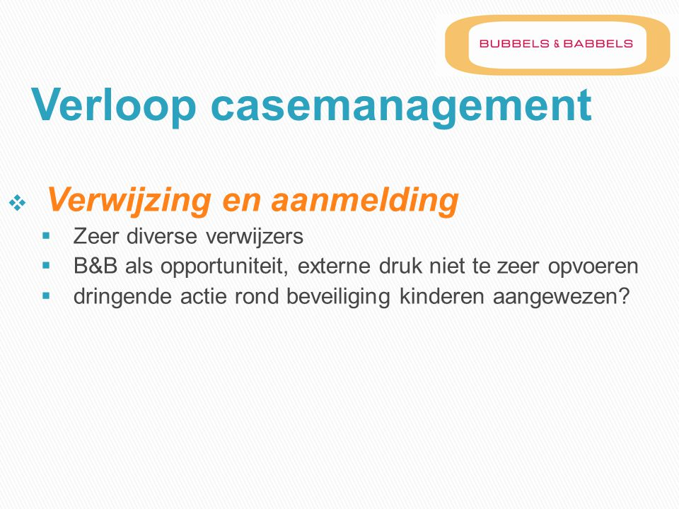Verloop casemanagement