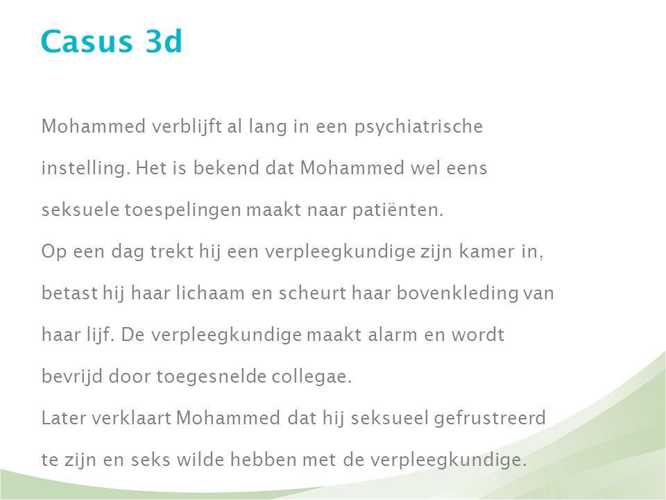 Casus 3d Mohammed verblijft al lang in een psychiatrische
