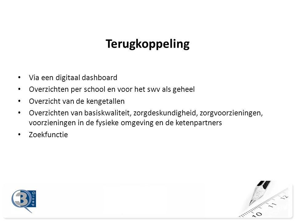 Terugkoppeling Via een digitaal dashboard