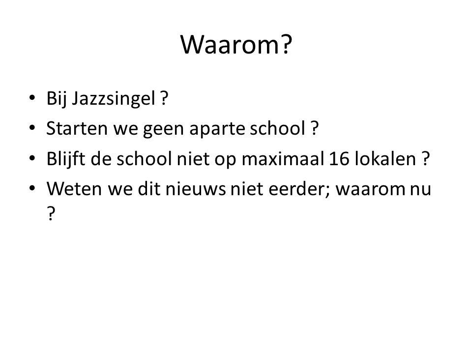 Waarom Bij Jazzsingel Starten we geen aparte school