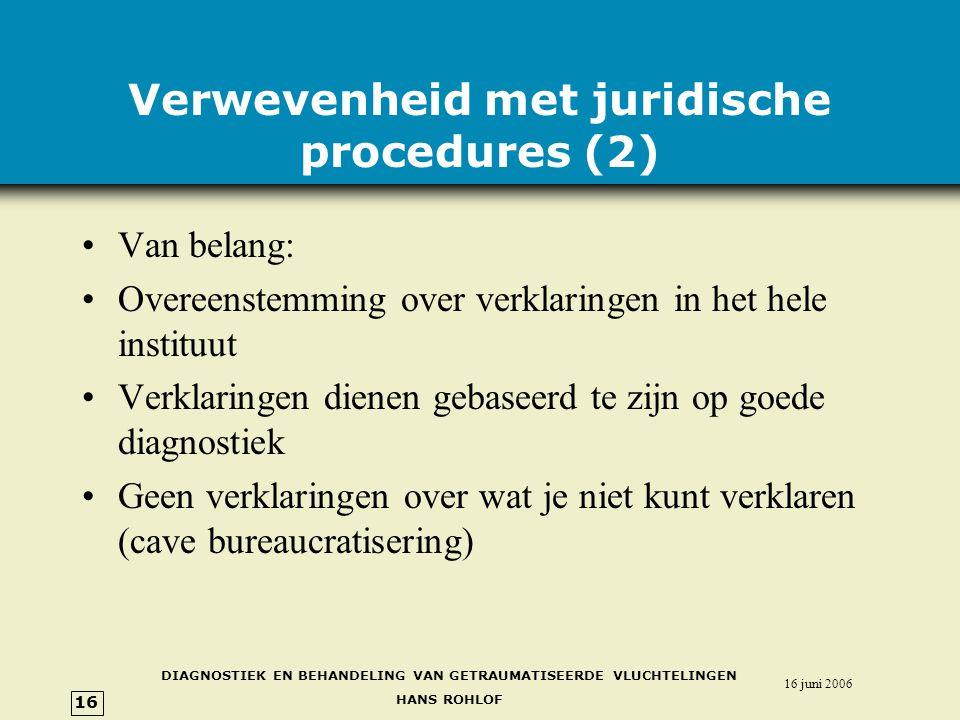 Verwevenheid met juridische procedures (2)