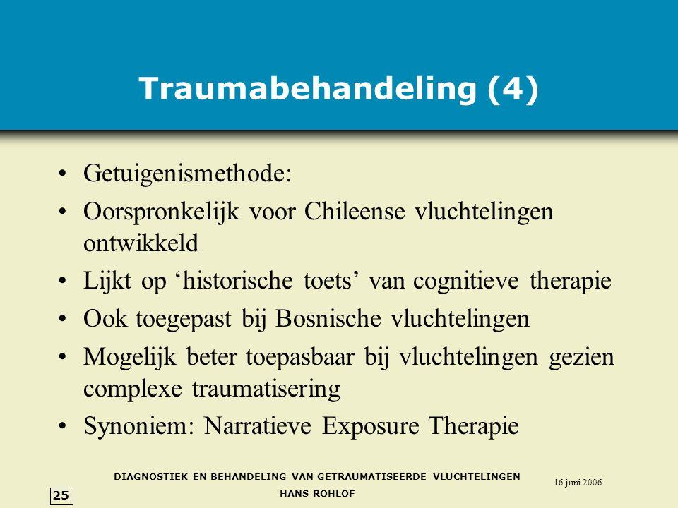 Traumabehandeling (4) Getuigenismethode: