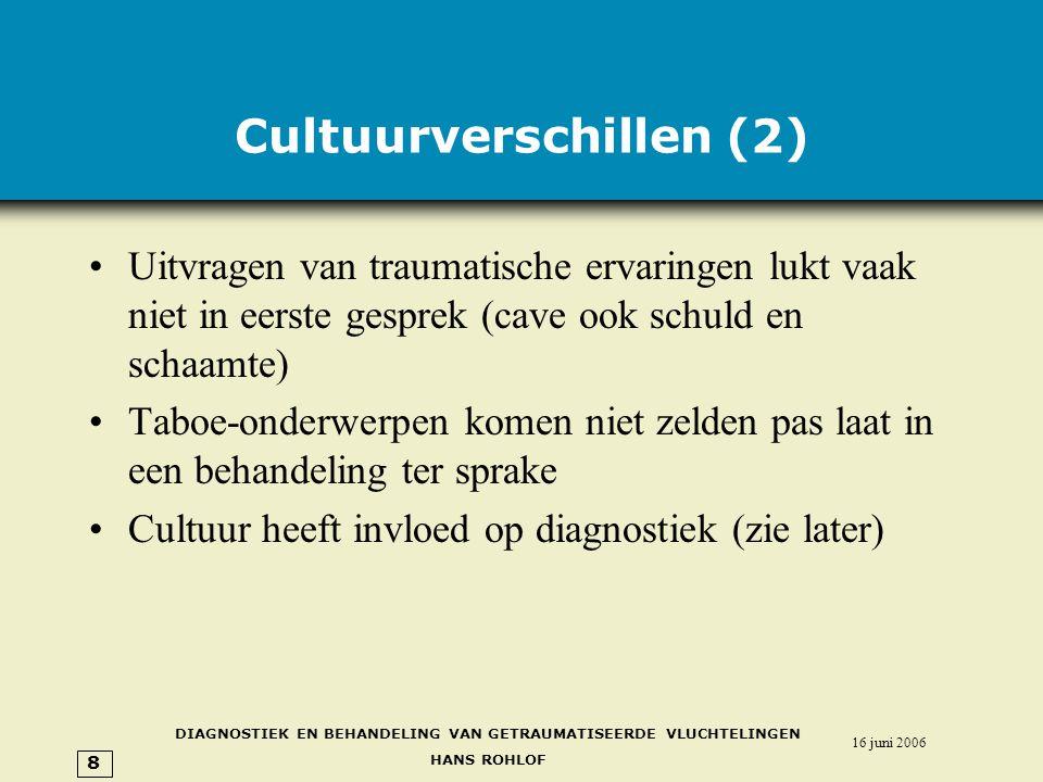 Cultuurverschillen (2)