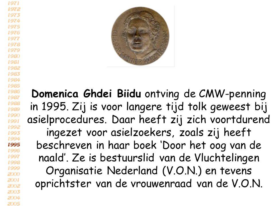 Domenica Ghdei Biidu ontving de CMW-penning in 1995