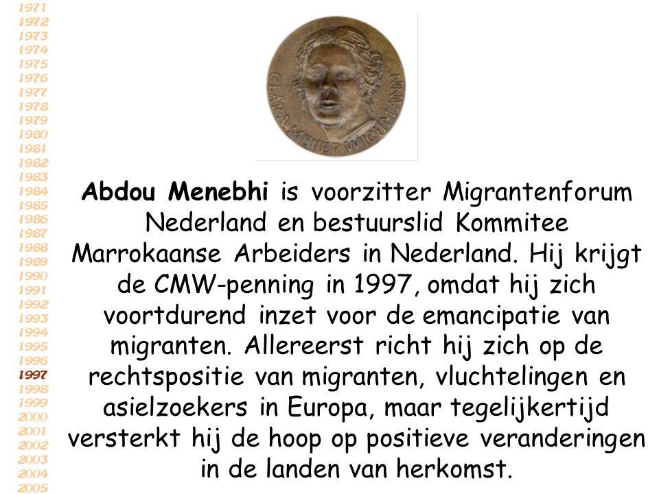 Abdou Menebhi is voorzitter Migrantenforum Nederland en bestuurslid Kommitee Marrokaanse Arbeiders in Nederland.