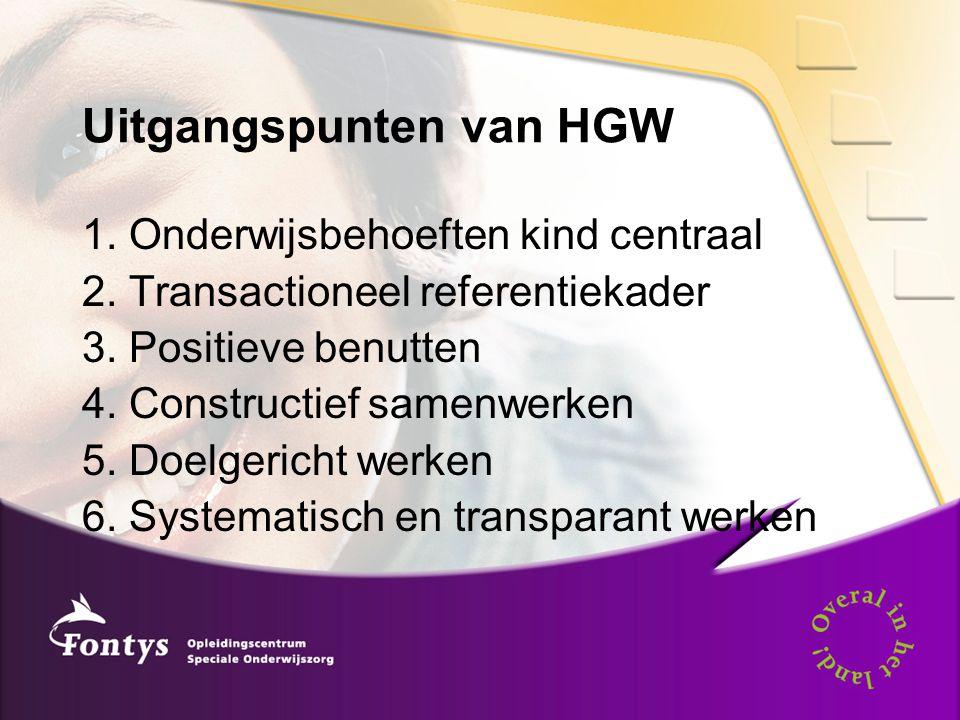 Uitgangspunten van HGW