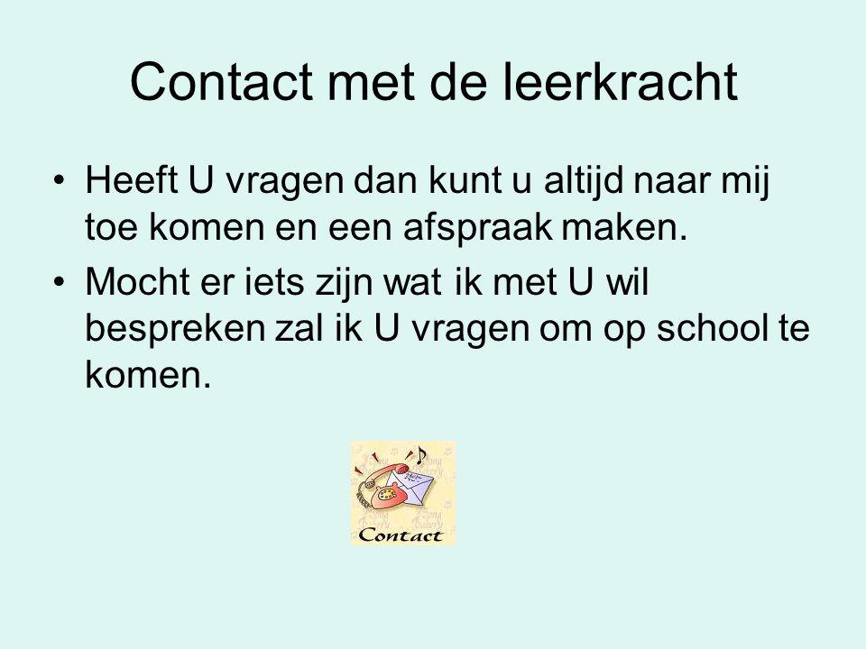 Contact met de leerkracht