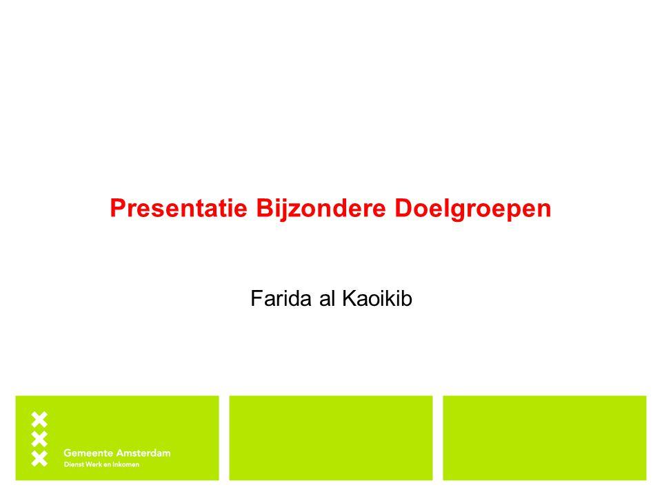Presentatie Bijzondere Doelgroepen