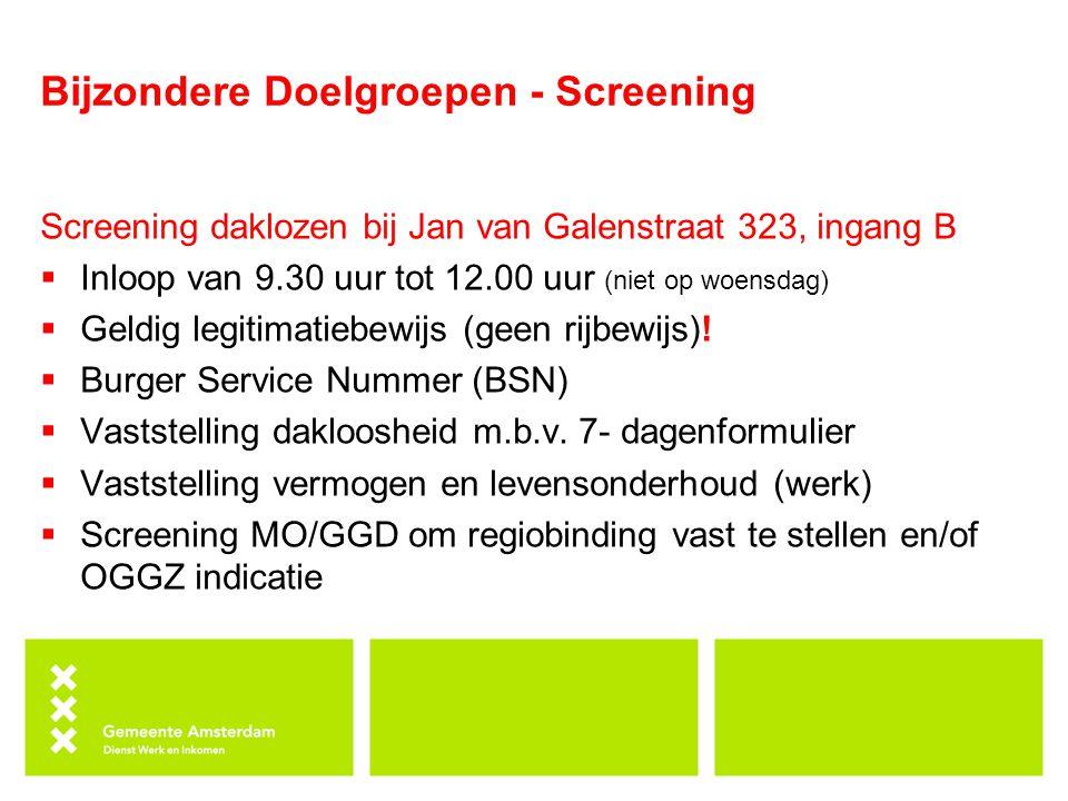 Bijzondere Doelgroepen - Screening