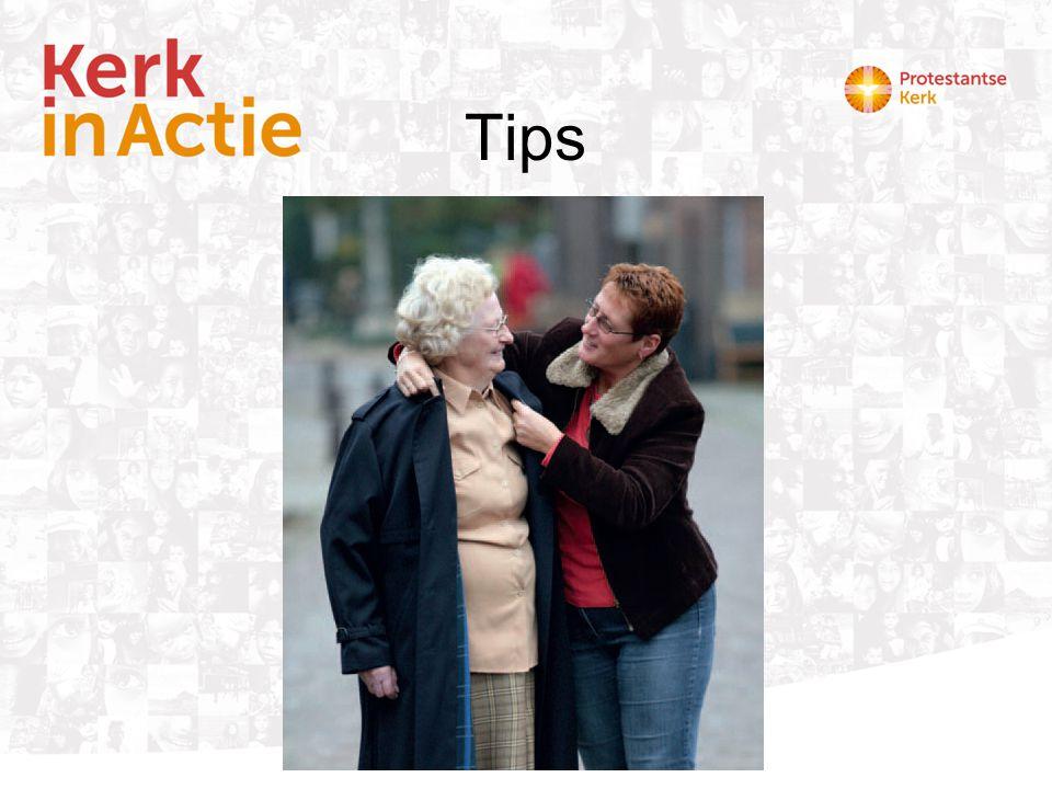Tips Een praktisch hulpmiddel is de Kaart met Tips voor diakenen om aandacht te vragen voor mantelzorgers in de eigen kerk.