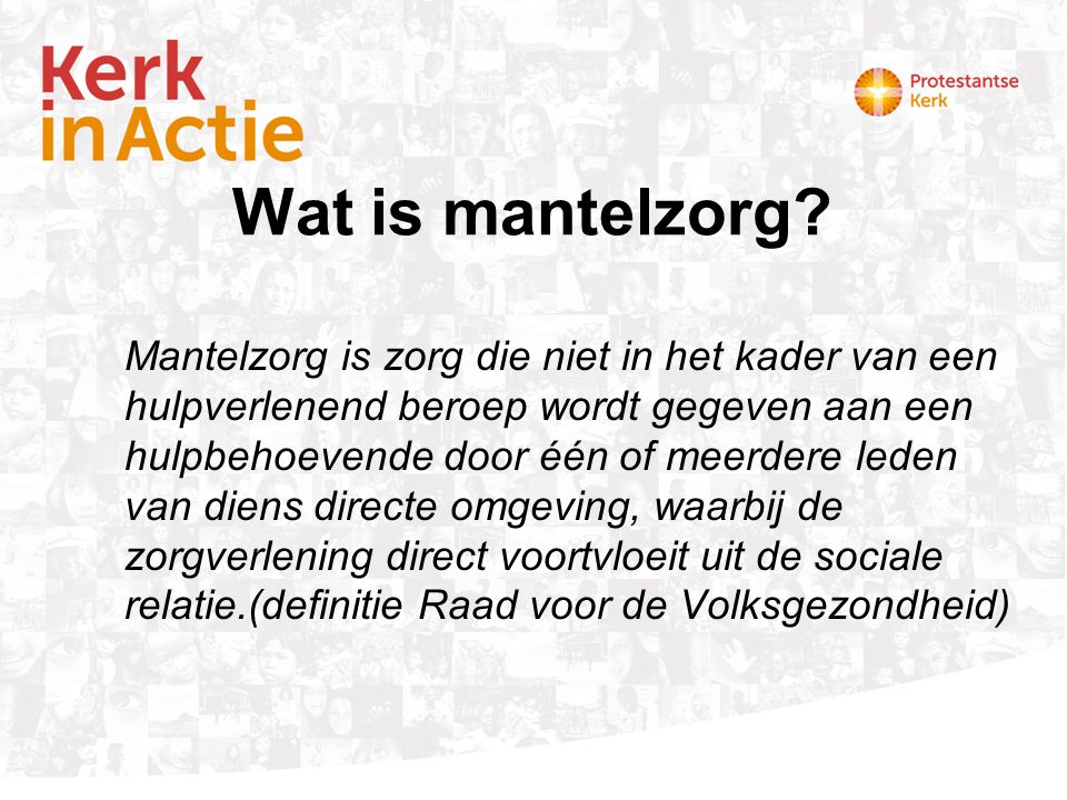 Wat is mantelzorg