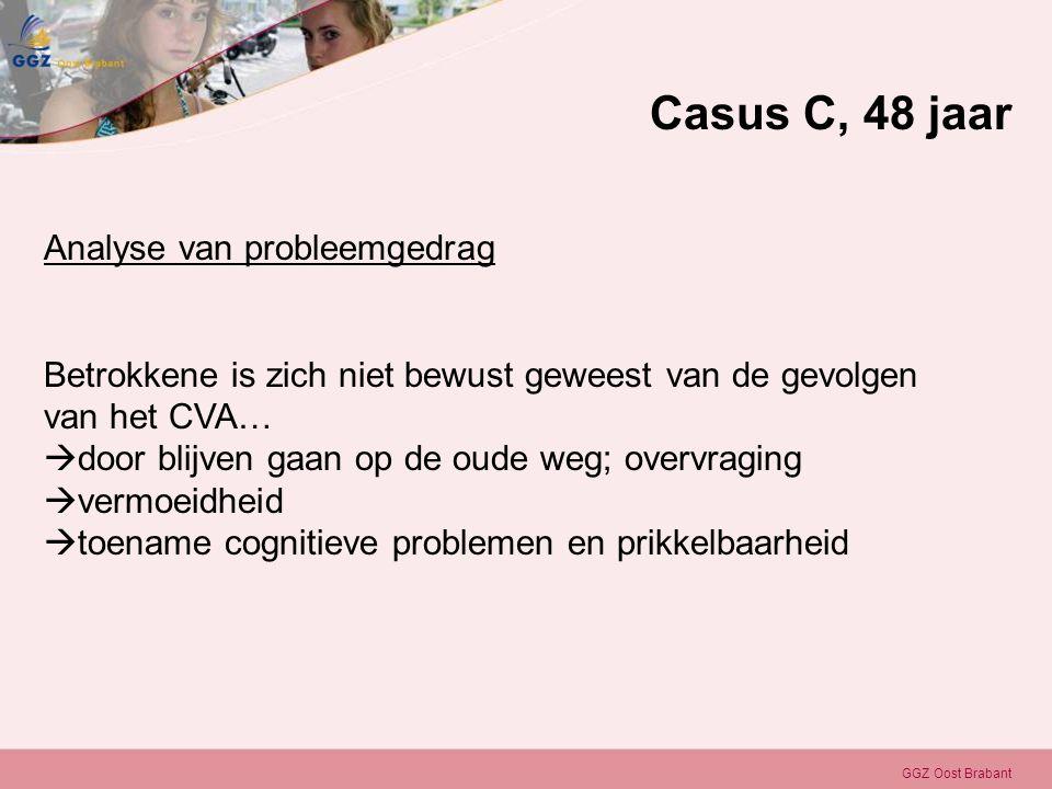 Casus C, 48 jaar Analyse van probleemgedrag