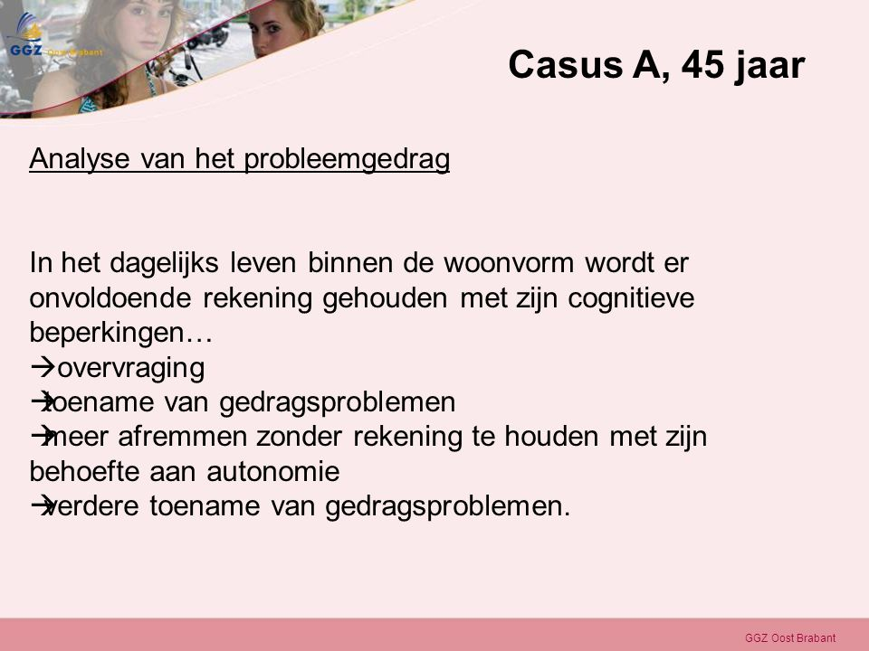 Casus A, 45 jaar Analyse van het probleemgedrag
