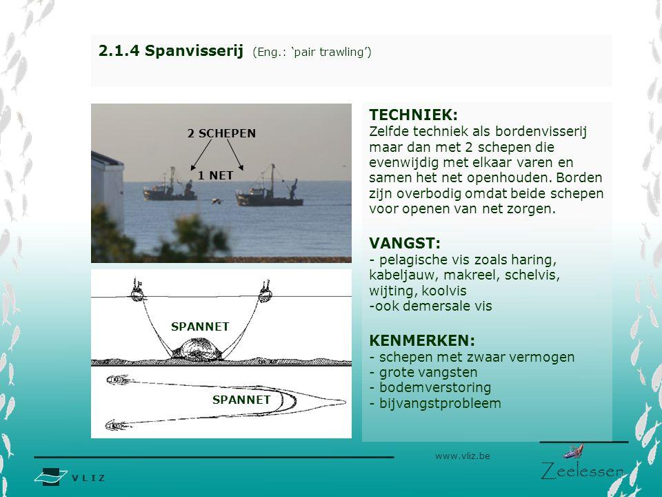 2.1.4 Spanvisserij (Eng.: 'pair trawling')