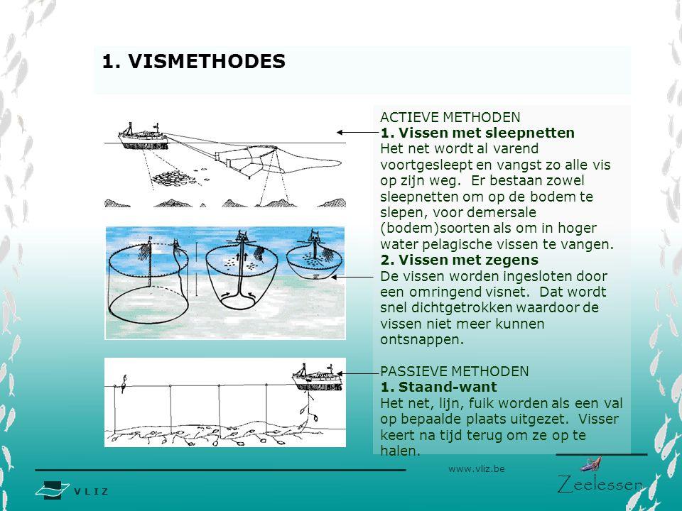1. VISMETHODES ACTIEVE METHODEN 1. Vissen met sleepnetten