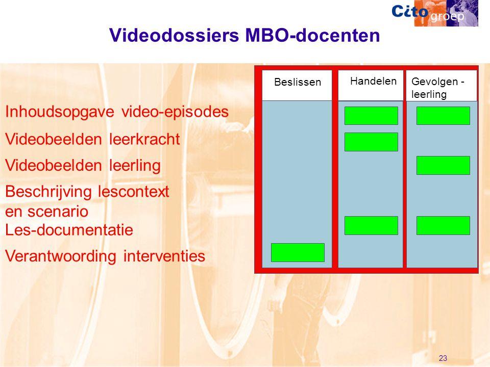 Videodossiers MBO-docenten