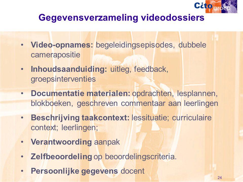 Gegevensverzameling videodossiers
