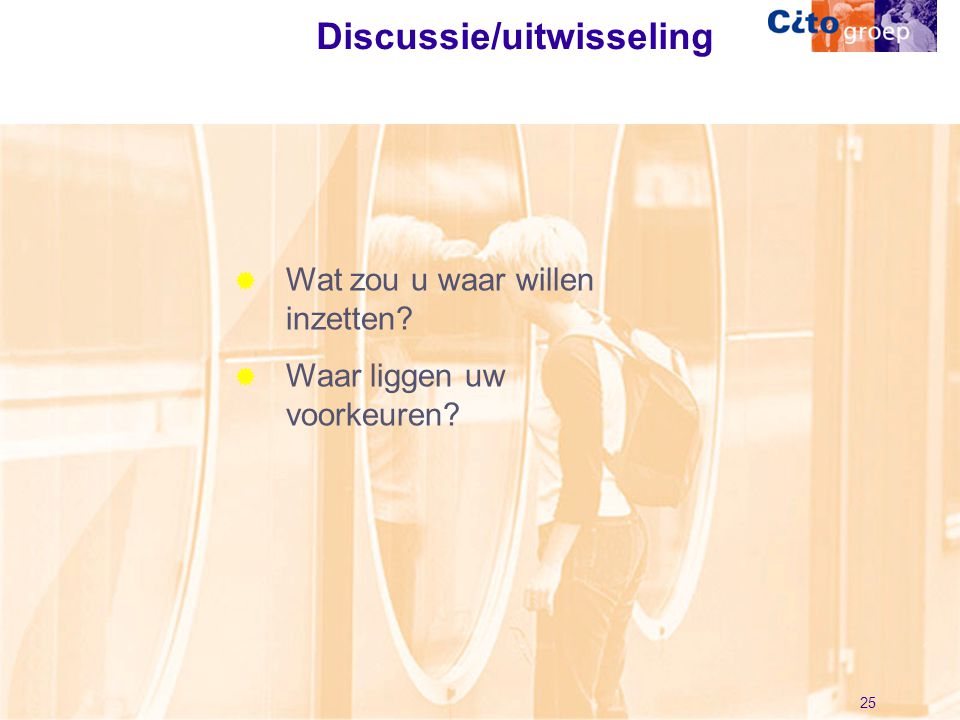 Discussie/uitwisseling