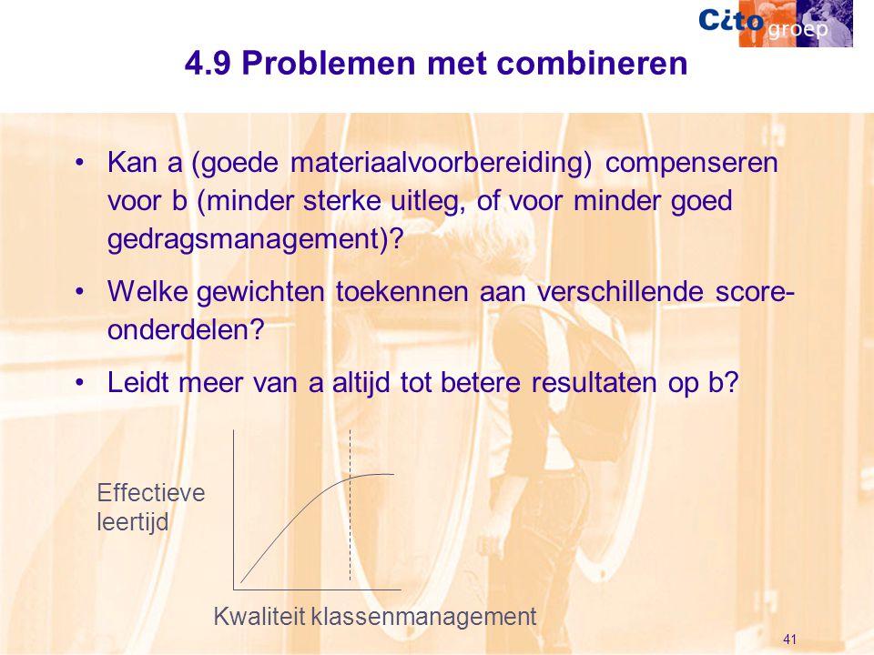 4.9 Problemen met combineren