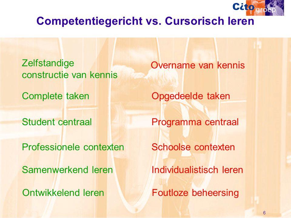 Competentiegericht vs. Cursorisch leren