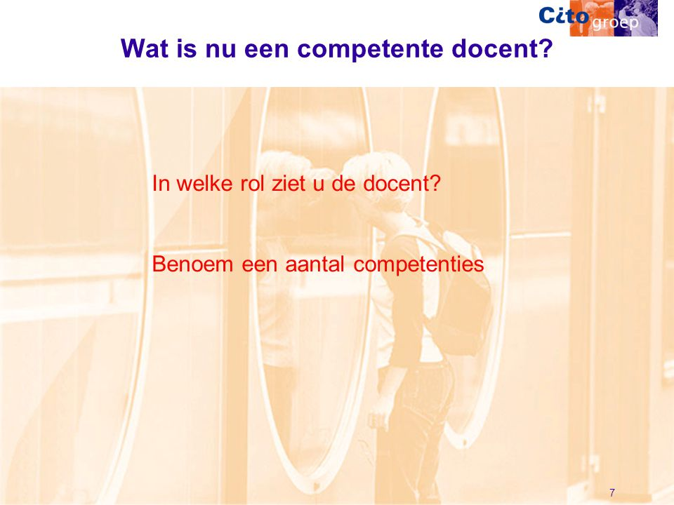 Wat is nu een competente docent