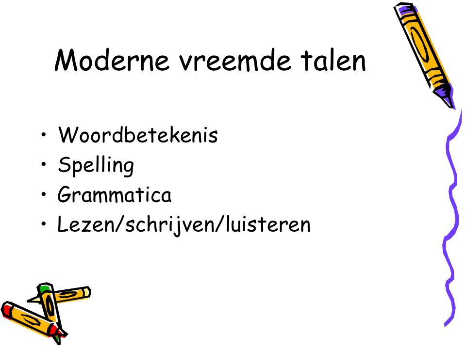 Moderne vreemde talen Woordbetekenis Spelling Grammatica