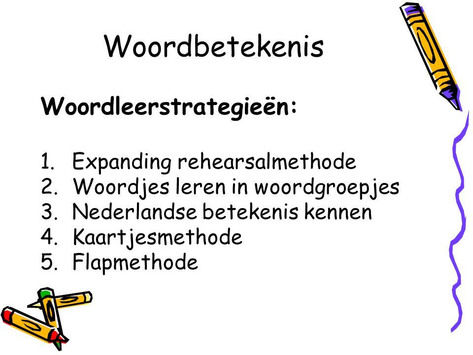 Woordbetekenis Woordleerstrategieën: Expanding rehearsalmethode