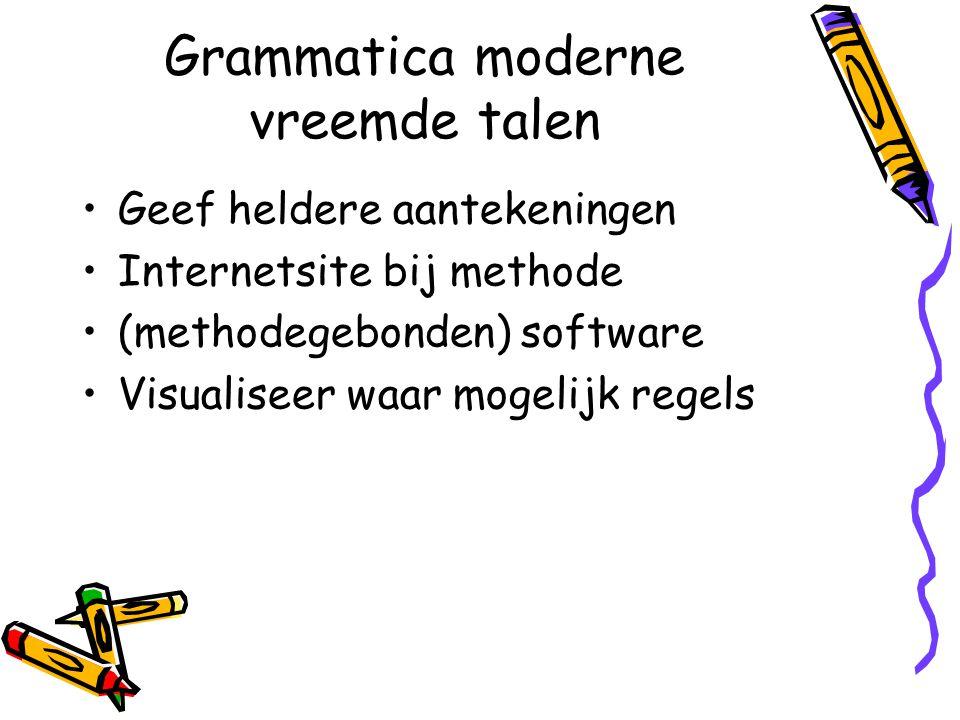 Grammatica moderne vreemde talen
