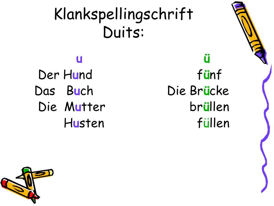 Klankspellingschrift Duits: