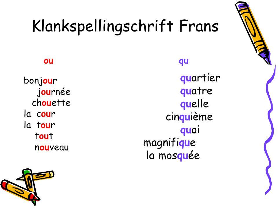 Klankspellingschrift Frans