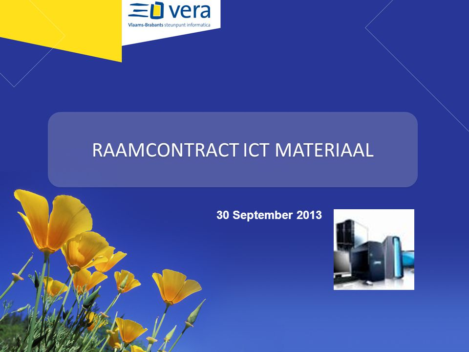 RAAMCONTRACT ICT MATERIAAL